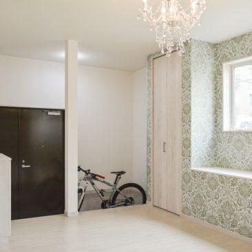 自転車と一緒になる空間